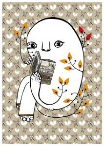 """Postkarte """"Würzburg liest ein Buch"""""""